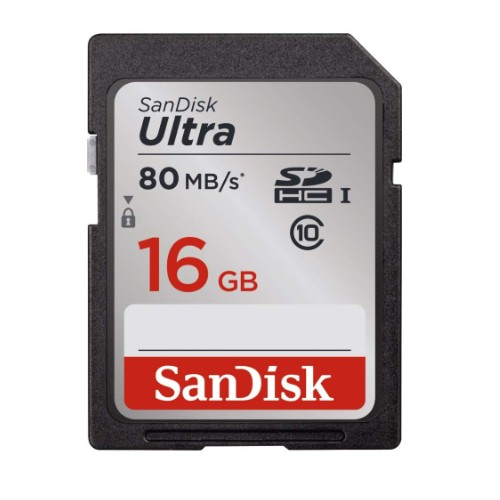 SANDISK SD 16GB ULTRA 80MB_S