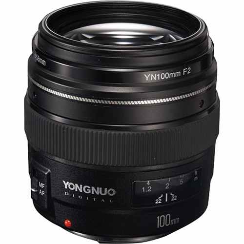 YongNuo 100MM F2 lens for Canon YN100mm F2.0 C
