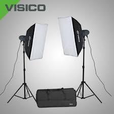 VISICO VL-200 PLUS SOFTBOX STUDIO LIGHT KIT`