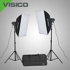 VISICO VL-200 PLUS SOFTBOX STUDIO LIGHT KIT`