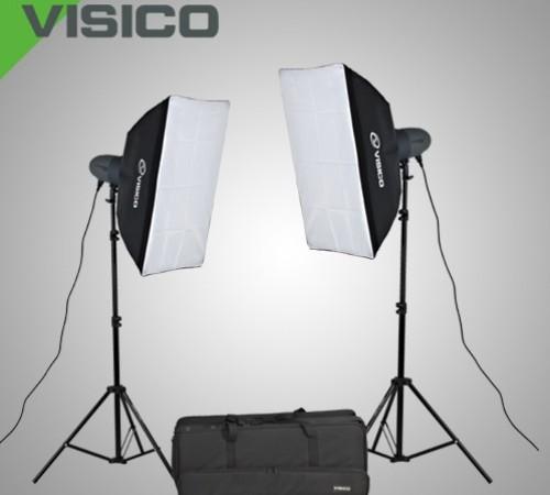 VISICO VL-400 PLUS SOFTBOX STUDIO LIGHT KIT