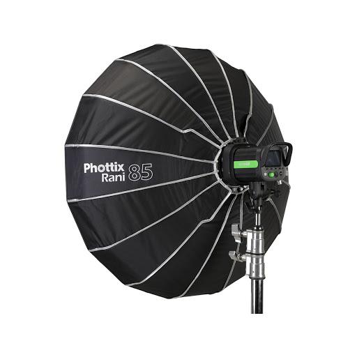Phottix Rani 85 Folding Beauty Dish (85cm, 33″, Silver, 16-Rod)