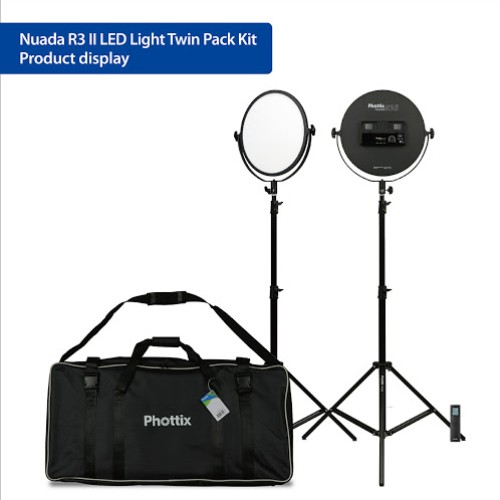 Phottix Nuada R3 II LED Light Twin Kit Set