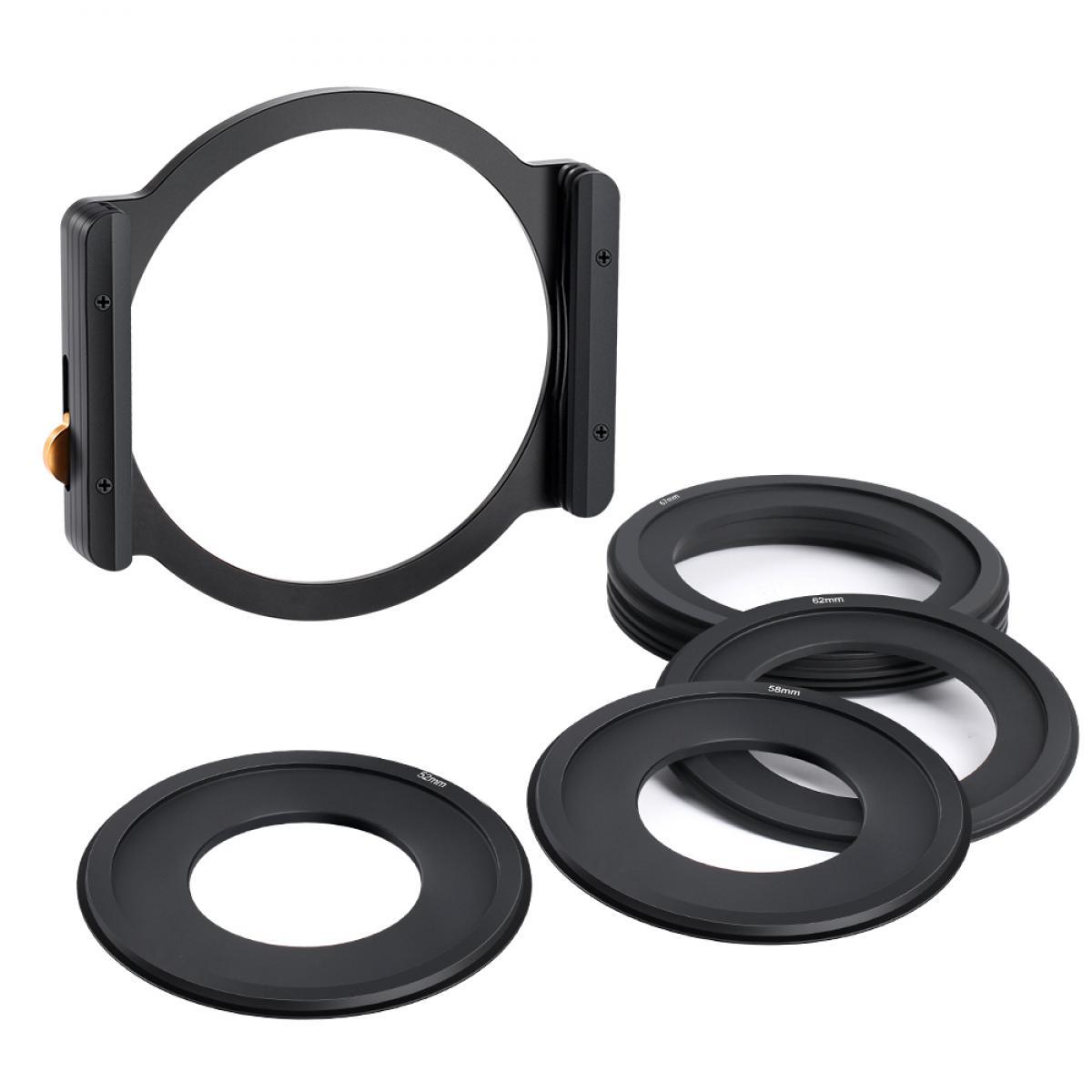 100 Square Filter Metal Holder + 8pcs Adapter Rings For DSLR
